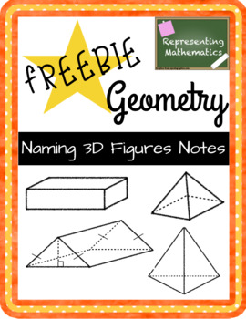 {FREEBIE} Naming 3D Figures Guided Notes