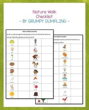 {FREEBIE} Nature Walk Checklist