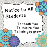 {FREEBIE} Notice to All Students Sign