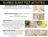 *FREEBIE*  Number Bunny Peep Activities