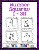 Number Squares for Classroom Organization - Ink Saver