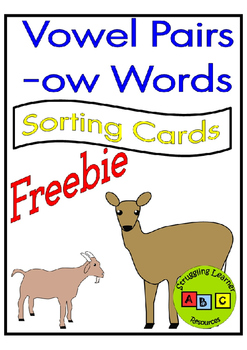 *FREEBIE* OW Sorting Cards - OH vs OW