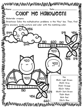 *FREEBIE* October Print-n-Go Math Centers