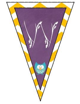 *FREEBIE* Owl Classroom Welcome Banner