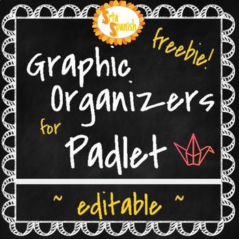 {FREEBIE!} Padlet Graphic Organizers