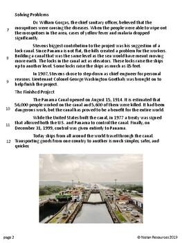 *FREEBIE* Panama Canal Reading Comprehension