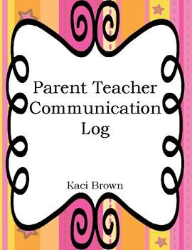 ****FREEBIE****  Parent Teacher Communication Log   ****FREEBIE****