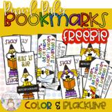 **FREEBIE** Pencil Pals Bookmarks - Color & Blackline