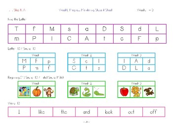 **FREEBIE** Phonics Intervention - Letters/Sounds, HFW & Sentences