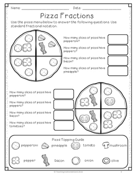{FREEBIE} Pizza Fractions Activity Packet