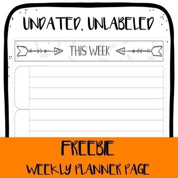 *FREEBIE* Planner Printable - Weekly Overview #2