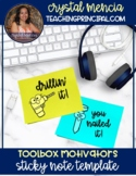 *FREEBIE* Post It Note Rewards: Toolbox Incentives