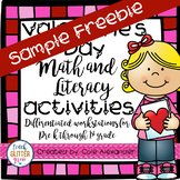 Valentines Day Rhyming and Graphing Center Activities