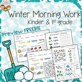 *FREEBIE Preview* Winter Morning Work Kindergarten & 1st Grade - No Prep
