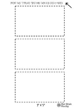 **FREEBIE** Printable Sticky Notes Template