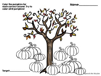 {{FREEBIE}} Pumpkin Reinforcer Pages