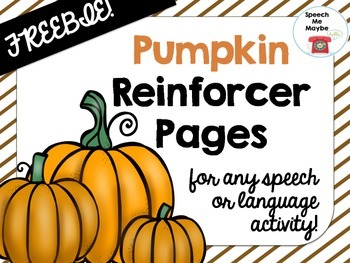 {{FREEBIE}} Pumpkin Reinforcer Pages