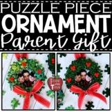 *FREEBIE* Puzzle Piece Wreath Ornament Template and Editab