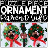 *FREEBIE* Puzzle Piece Wreath Ornament Template and Editab