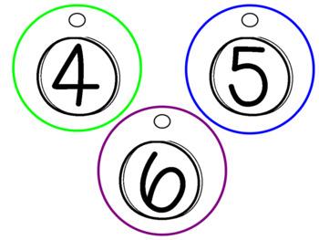 *FREEBIE* RAINBOW Student Number Circles