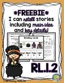 *FREEBIE* RL.1.2 Halloween Story, Comprehension Questions,