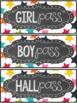 {FREEBIE} Rainbow Confetti & Chalkboard Classroom Decor SAMPLER