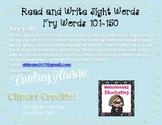 *FREEBIE* Read & Write Fry Words 101-150