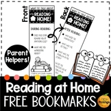 (FREEBIE!) Reading at Home Bookmarks