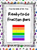 **FREEBIE** Ready-to-Go Fraction Bars MAKE FRACTION LEARNING HANDS-ON