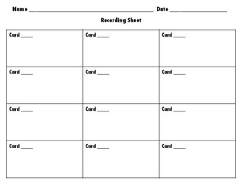 *FREEBIE* Recording Sheets & Answer Keys for ANY Task Cards and ANY Subject