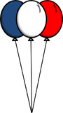 -Freebie- Red, White, & Blue Balloons Clip Art