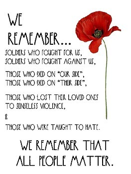 "*FREEBIE* - Remembrance Day Poster (Canada) - ""we remember..."""