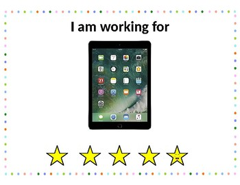 *FREEBIE* Reward Star Chart -  I'm working for... trials for speech therapy