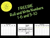 *FREEBIE* Roll and Write Numbers 1-6 and 5-10