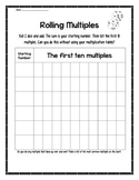 {FREEBIE} Rolling Multiples - A Dice Activity for Math Centers - Grades 3 - 5
