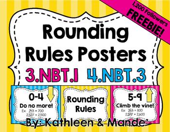 {FREEBIE} Rounding Posters 3.NBT.1 & 4.NBT.3