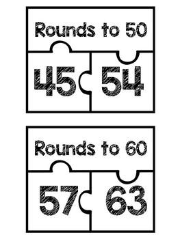 *FREEBIE** Rounding Puzzles