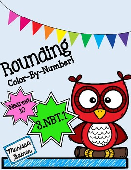 *FREEBIE* Rounding to the Nearest 10 Color By Number