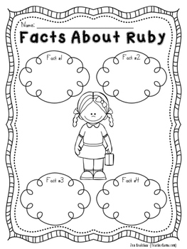 Ruby Bridges NO PREP Printables Black History Month