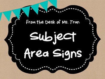 **FREEBIE**  Rustic Farmhouse Subject Area Signs