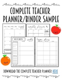 [FREEBIE] Sample Teacher Planner/Binder Pages