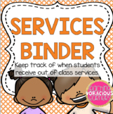 *FREEBIE* Services Binder for Tracking Special Ed Services