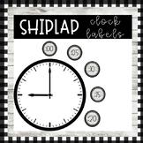 *FREEBIE* Farmhouse Shiplap Clock Labels