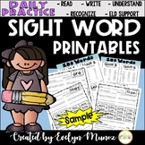 ***FREEBIE*** Sight Words Daily Practice