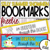 **FREEBIE** Silly Summer Snowmen Bookmarks - Color & Blackline