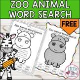 *FREEBIE* Simple Zoo Animal Word Search