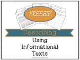 {FREEBIE} Snowman: Describing Using Informational Texts