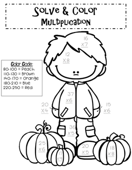 {{FREEBIE}} Solve & Color Multiplication Activity