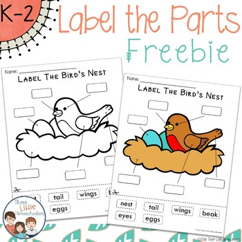 Spring Labeling Center Activities Preview FREEBIE