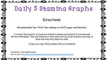 Stamina Graphs for Daily 5